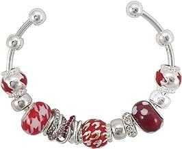 Gypsy Jewels Houndstooth Print Designer Look Silver Tone Cuff Bracelet Alabama Roll Tide Pride