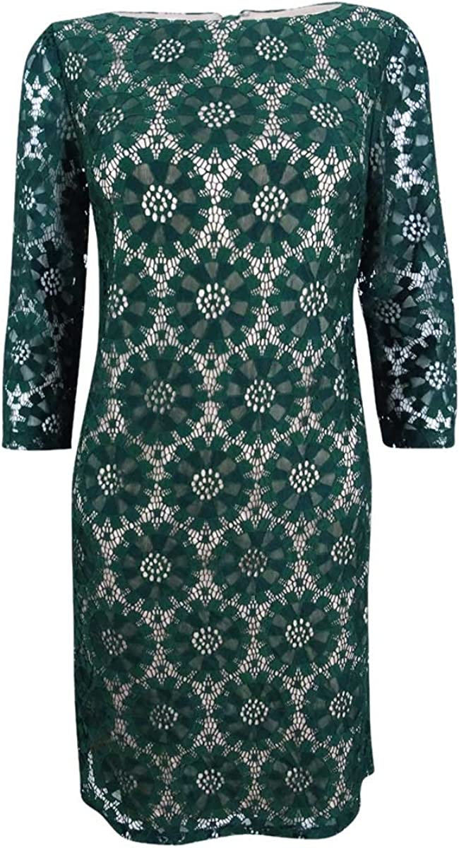 Jessica Howard Women's All Over Lace Shift Dress