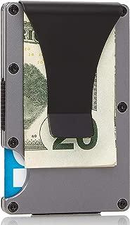 Carbon Fiber Money Clip Wallet - RFID - Minimalist RFID Blocking Wallet (Gunmetal)