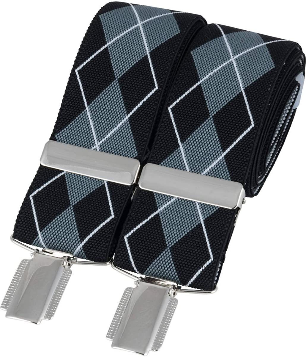 David Van Hagen Mens Diamond Braces - Black/Grey