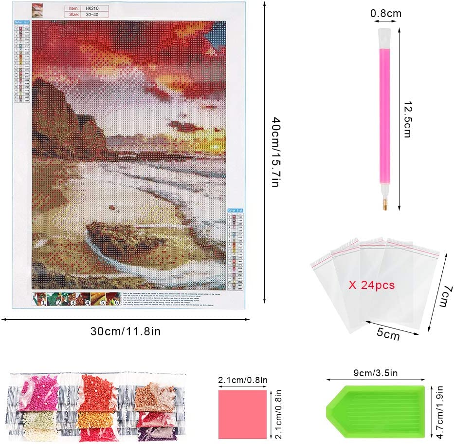 Diamante Punto de Cruz Kit Craft Decoraci/ón del Hogar 5D Diamante Pintura Kits DIY 40x 30 cm Wishstar Diamond Painting Girasol
