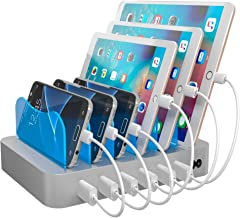 Hercules Tuff Charging Station for Multiple Devices - use for Phones, Tablets, lpad, Kindle Fire, E Reader, or Other Electronic Devices - 6 Cables Included