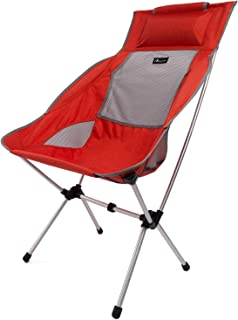MOON LENCE Compact Camping Chair High Back Ultralight Portable Folding Backpacking Chair Summer Camping-Super Breathable