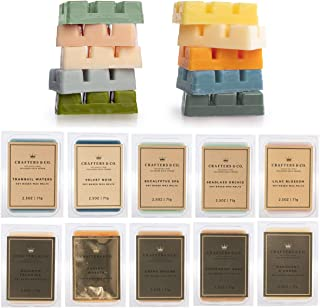 Crafters & Co 60 Scented Wax Melts Wax Cubes 2.5 Ounce Soy Wax Melts for Candle Warmer, Wax Warmer in 10 Pack Set