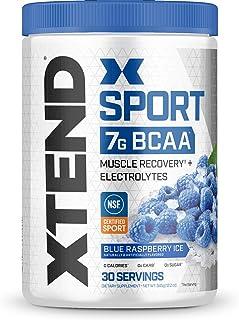 Scivation Xtend Hydrasport BCAA Powder, Branched Chain Amino Acids, BCAAs, Zero Sugar Electrolyte Drink Powder + Hydration, Blue Raspberry, 30 Servings
