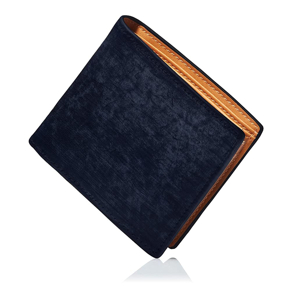緯度ブラウス内向きCOASTHERIT 財布 一流の財布職人が作る ブライドルレザー 二つ折り財布 メンズ 小銭入れ付き