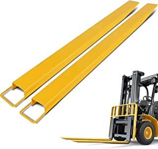 BestEquip Pallet Forks Extensions 84 Inch x 4.5 Inch Steel Pallet Forks Forklift Pallet Fork Extensions for Forklift Lift Truck (84 x 4.5 Inch)