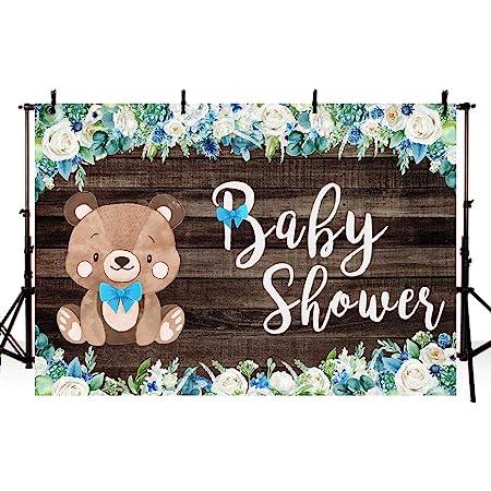 7x7FT Vinyl Wall Photography Backdrop,Bear,Funny Polar Teddy Bears Background for Baby Birthday Party Wedding Graduation Home Decoration