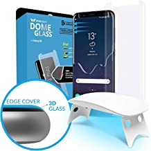 Galaxy S8 Screen Protector, [Dome Glass] Full Coverage 3D Curved Tempered Glass Shield [Liquid Dispersion Tech] Easy Install by Whitestone for Samsung Galaxy S8 (2017) - 1 Pack