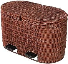 JJZXD Rectangular Small Step Trash Can Wastebasket, Garbage Container Bin for Bathroom, Powder Room, Bedroom, Kitchen, Cra...