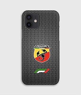 Carbon Abarth cover per iPhone 12mini, 12, 12 pro, 12 pro max, 11, 11 pro, 11 pro max, XS, X, X max, XR, SE, 7+, 8, 7, 6+,...