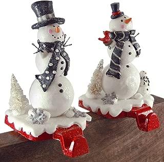 Gerson Festive Winter Snowmen Stocking Holders - Set of 2