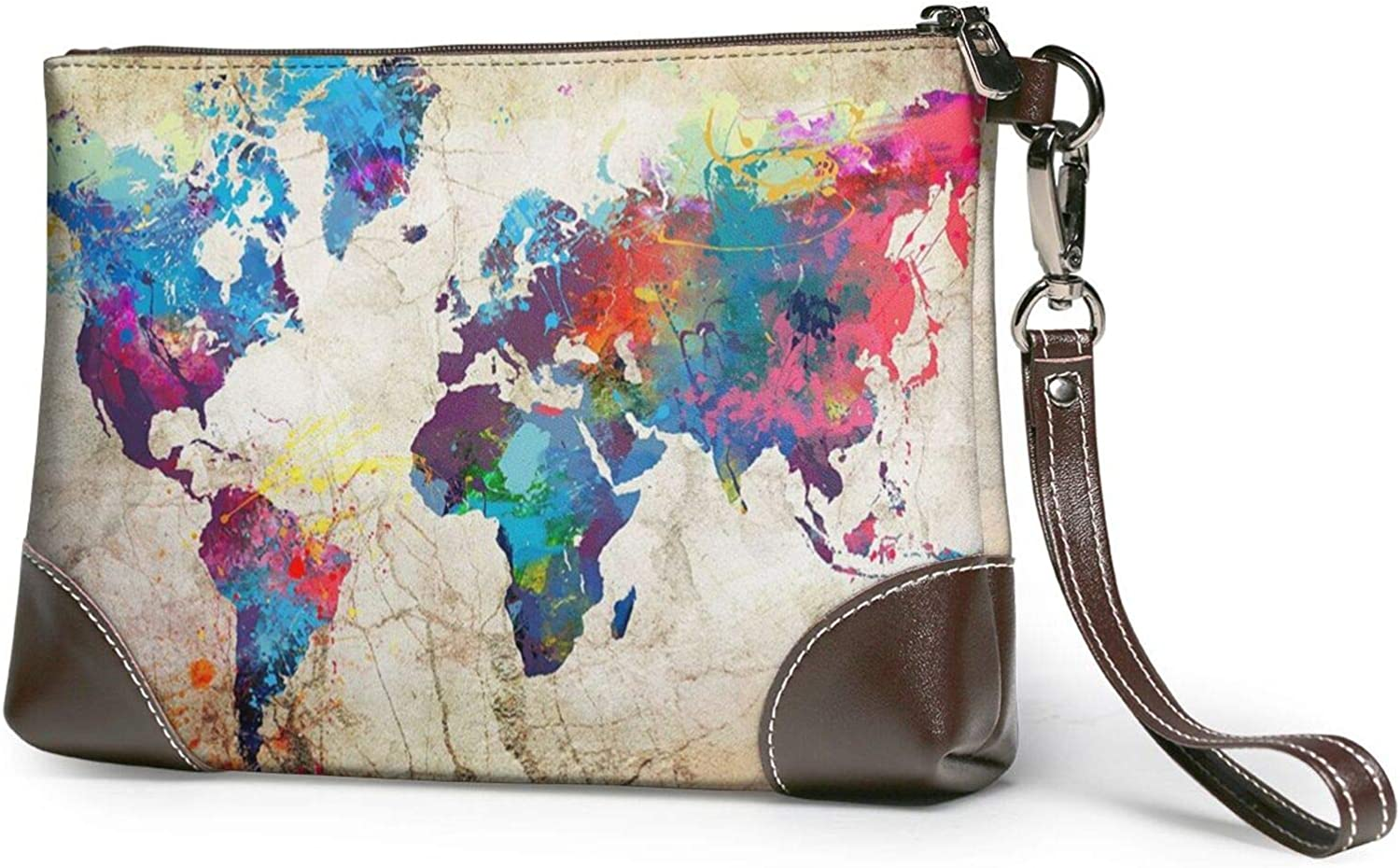 Abstract World Map Charlotte Mall Clutch Wallet Wristlet Purses Max 63% OFF Leather