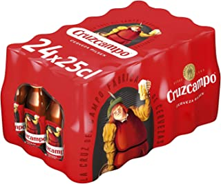 Cruzcampo Cerveza Pilsen - Caja de 24 Botellas x 250 ml - Total: 6 L