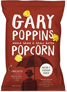 Gary Poppins Popcorn - Gourmet Handcrafted Flavored Popcorn - 10 Pack Bacon-y Cheddar Ranch, 1oz