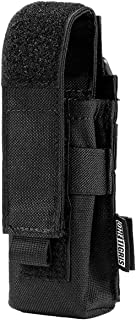 OneTigris Flashlight Pouch Holster Tactical Molle 1000D Cordura Nylon Flashlight Pouch Holder (Black)