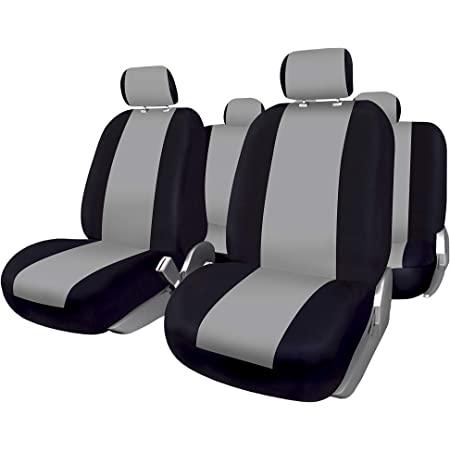 Bccorona Fuk10409 Set Komplette Autositzbezüge Sevilla Schwarz Blau Auto