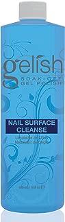 Gelish Nail Soak Off Surface Gel UV Top Coat Cleanser Bottle 480mL (16fl oz)