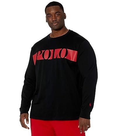 Polo Ralph Lauren Big & Tall Big Tall Cotton Jersey Graphic T-Shirt (Polo Black) Men
