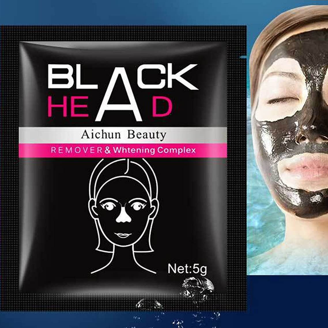 ??Libobo??Black Mud Deep Cleansing Purifying Peel Off Facail Face Mask
