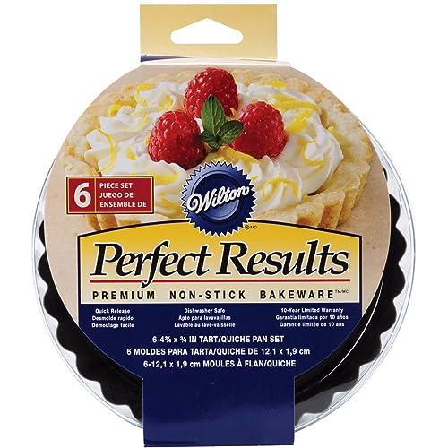 Wilton Perfect Results Premium Non-Stick Bakeware Round Tart and Quiche Pans, Sunday Brunch