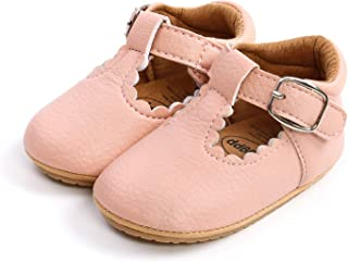LACOFIA Baby Boy's Anti-Slip Soft PU Leather Sneakers Infant First Walking Slipper Shoes