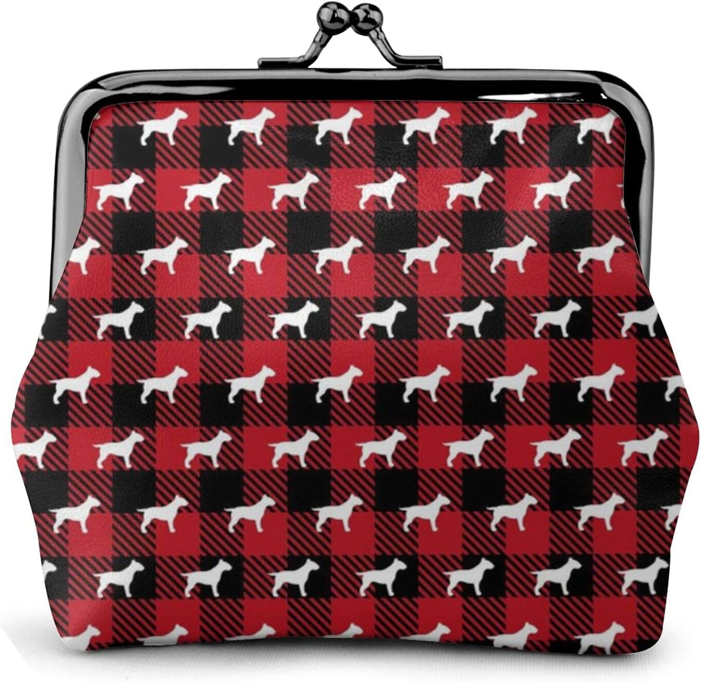 Bull Terrier Buffalo 1282 Women'S Wallet Buckle Coin Purses Pouch Kiss-lock Change Travel Makeup Wallets, Black, One Size