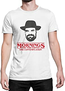 Mornings are for Coffee and Contemplation Shirt Chief Hopper Quote T-Shirt Jim Hopper Tee