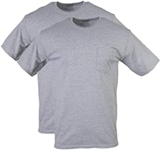 تي شيرت رجالي من Gildan DryBlend Workwear مع جيب، تي شيرت عبوة من قطعتين