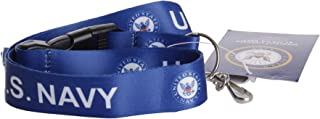 US Navy Blue Official Licensed Lanyard Key Chain ID Holder