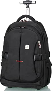 """19"""" Rolling Carry-on Luggage Travel Duffel Bag for Men,TSA Checkpoint Friendly Wheeled Backpack, Black"""