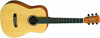 Cort 3/4Dreadnought Guitarra Acústica Earth de mini travel Guitar, pícea maciza, base y marco de caoba, color: natural