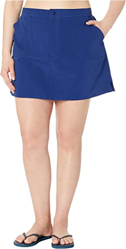 Plus Size Solids Woven Boardskirt