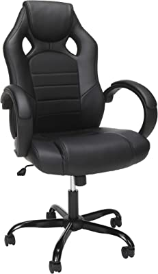 OFM ESS Collection High-Back Gaming Chair, Padded Loop Arms, Black