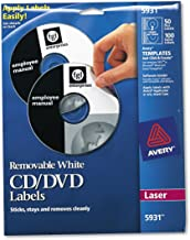 Avery 5931 Laser Labels Shuttered Jewel Case Inserts with Software for CD/DVD