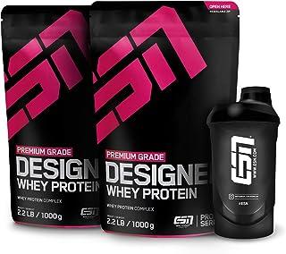 ESN Designer Whey Protein – 2x1000g + Gratis ESN Shaker – Vanilla – Eiweißpulver..