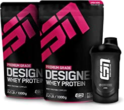 ESN Designer Whey Protein – 2x1000g + Gratis ESN Shaker – Chocolate Fudge Cookie Dough – Eiweißpulver reich an essentiellen Aminosäuren (EAAs) – Sehr gut löslich – 66 Portionen – Made in Germany