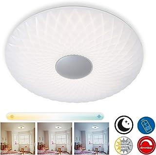 Briloner Leuchten – Lámpara de techo LED, regulable, control de temperatura de color,