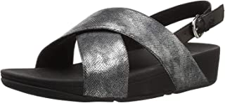 FitFlop LULU CROSS BACK-STRAP SANDALS - SHIMMER-PRINT womens Sandal