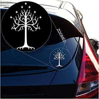 Ace One Store Graphics Tree of Decal Sticker from Lord of The Rings for Car Window, Laptop, Motorcycle, Walls, Mirror and More,White