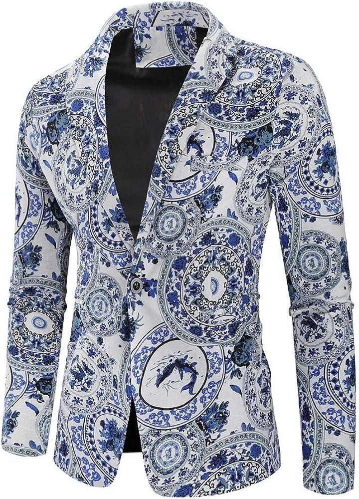 MODOQO Men's Fashion Suit Slim Fit Blazer Tuxedo Jacket for Party Prom
