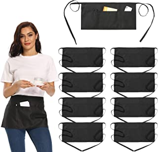 Handmade Reversible server waitress waist waiter apron Pigs in a Blanket with three pockets 6782R free embroidery