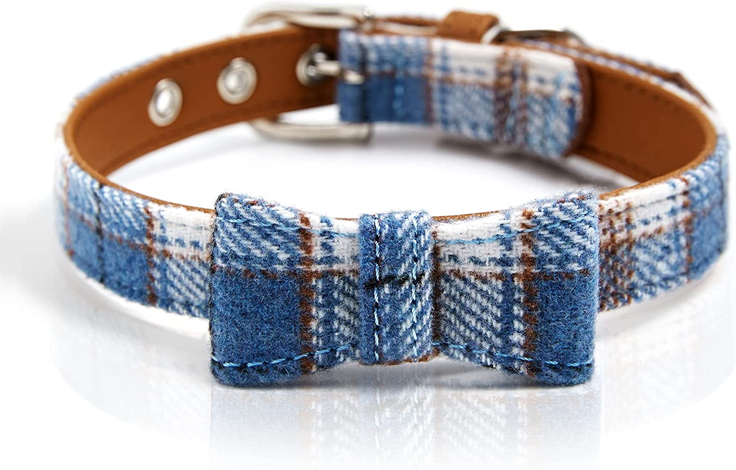 5 ☆ popular MOBA Pet Dog Collar for Small Al sold out. Bo Large Medium Dogs Plaid Classic