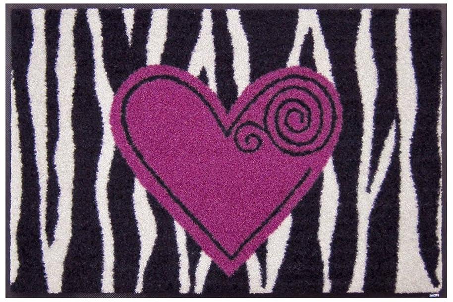 民間居心地の良いコロニークリーンテックス wash+dry(ウォッシュ アンド ドライ) 玄関マット Wild Heart 50×75cm