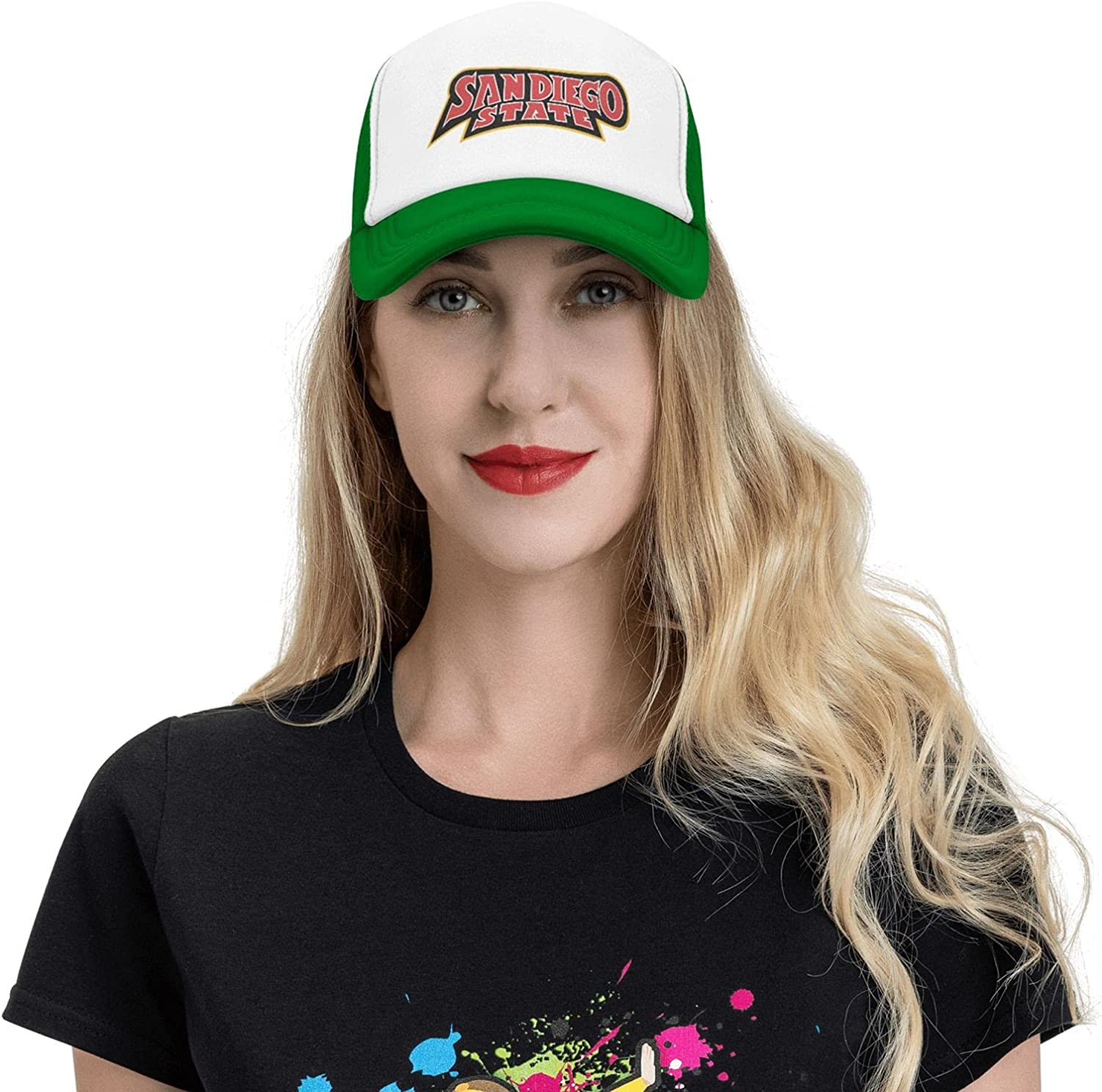 San-Diego State University Logo Unisex Best Kicker Cowboy Hat Adjustable Washable Dyed Baseball Cap is Perfect for College Students Green