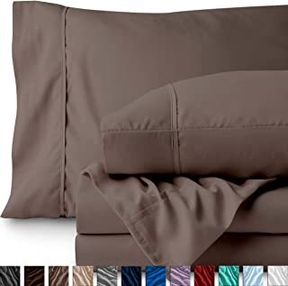 Bare Home Full XL Sheet Set - College Dorm Size - Premium 1800 Ultra-Soft Microfiber Sheets Full Extra Long - Double Brushed - Hypoallergenic - Wrinkle Resistant (Full XL, Taupe)