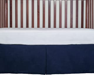 AB Lifestyles Tailored Crib Bed Skirt Dust Ruffle 15 inches Long Color: Navy Blue