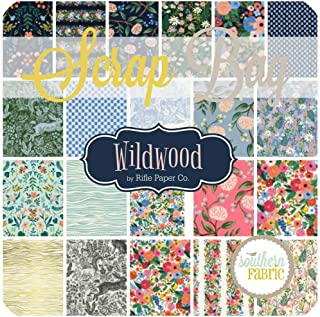 Cotton and Steel Wildwood Scrap Bag (Approx 2 Yards) by Rifle Paper Co 2 Yards of Fabric (at Least 8 Pieces) 2 to 17 inch Strips DIY Quilt Fabric