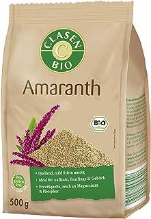 CLASEN BIO Amaranth, Eiweißquelle, Ideal für Aufläufe und Bratlinge, reich an Magnesium und Phosphor - 500 g