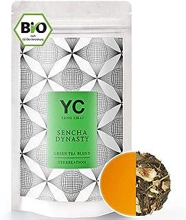 Bio Sencha Grüntee Sencha Dynasty Premium lose Blätter Grüner tee Green Tea von YANG CHAI Mit Einzigartigem Aroma Und Einem Hauch Erfrischender Zitrone das ideale Tee Geschenk für Teeliebhaber